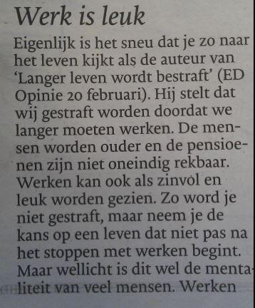 Ingezonden brief Eindhovens Dagblad