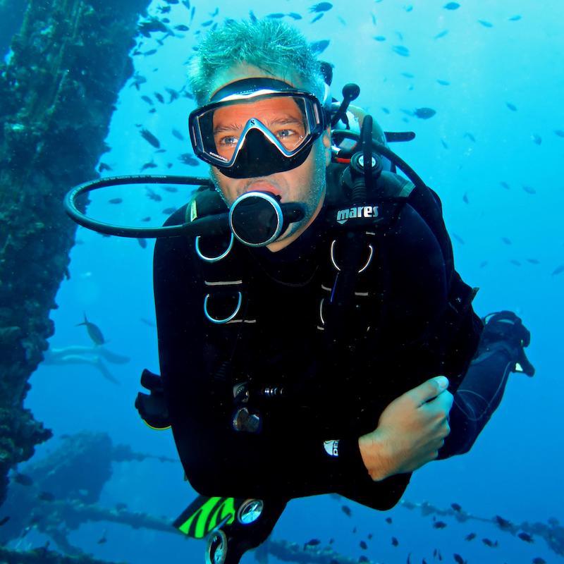 Maurice van den Heuvel duiken Thailand